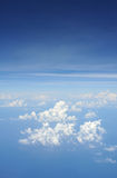 Céu do avião Fotografia de Stock Royalty Free