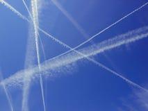 Céu do Bleu em um dia ensolarado Foto de Stock