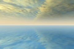 Céu do córrego de jato Imagem de Stock Royalty Free