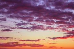 Céu do crepúsculo Fotografia de Stock