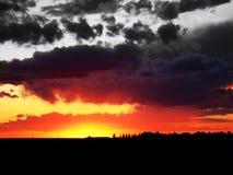 Céu do fogo Fotografia de Stock