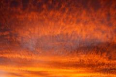 Céu do fogo Fotografia de Stock Royalty Free
