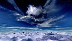 Céu do inverno ilustração do vetor