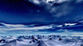 Céu do inverno ilustração royalty free