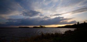 Céu do lago rice selvagem Fotos de Stock Royalty Free