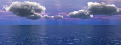 Céu do mar fotografia de stock