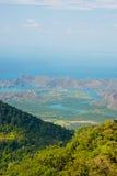 Céu do monte do mar de Langkawi Fotografia de Stock