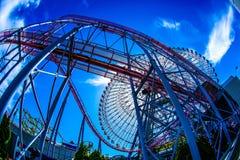 Céu do mundo de Yokohama Cosmo e do tempo fino foto de stock royalty free