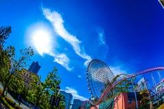 Céu do mundo de Yokohama Cosmo e do tempo fino fotografia de stock royalty free