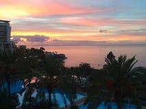 Céu do nascer do sol fotos de stock