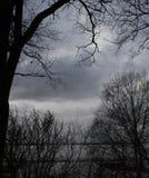 Céu do outono despido Imagem de Stock Royalty Free