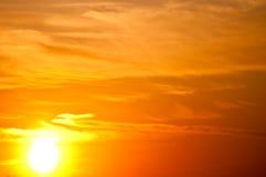 Céu do por do sol Fotos de Stock Royalty Free