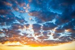 Céu do por do sol Fotos de Stock