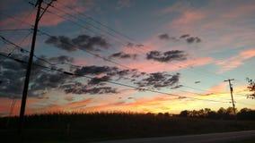 Céu do por do sol Imagens de Stock