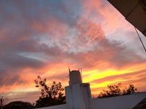Céu do por do sol imagens de stock royalty free