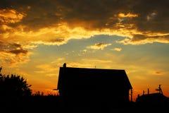 Céu do por do sol Fotografia de Stock