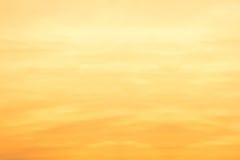 Céu do por do sol Imagem de Stock