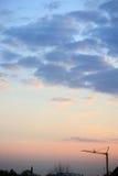 Céu do por do sol com nuvens. Imagem de Stock Royalty Free