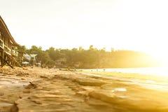 Céu do por do sol em Bali, oceano de Ásia imagem de stock royalty free