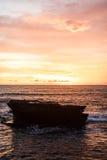 Céu do por do sol em Bali, oceano de Ásia imagem de stock