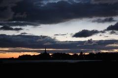 Céu do por do sol no noroeste Imagem de Stock Royalty Free