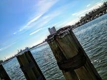 Céu do porto de Baltimore foto de stock