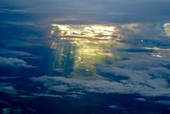 Céu do sol da iluminação Fotografia de Stock Royalty Free