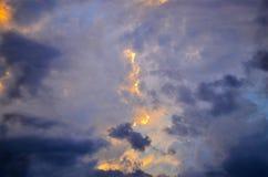 Céu do trovão Foto de Stock