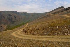 Céu do vale da estrada da montanha Foto de Stock