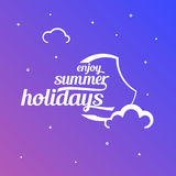 Céu do verão da ilustração com texto do estilo Imagens de Stock