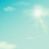 Céu do verão, vintage, vetor Imagem de Stock