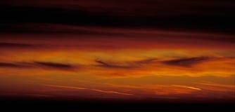 Céu do vermelho do incêndio Imagens de Stock