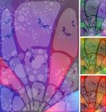 Céu do vidro colorido ilustração do vetor