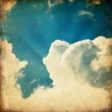 Céu do vintage e fundo velhos das nuvens. ilustração stock