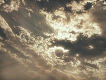 Céu dourado Fotos de Stock Royalty Free