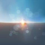 Céu dramático brilhante e terra escura Vetor do EPS 10 ilustração do vetor
