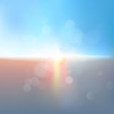 Céu dramático brilhante e terra escura Vetor do EPS 10 ilustração stock