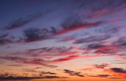 Céu dramático do por do sol Imagens de Stock Royalty Free
