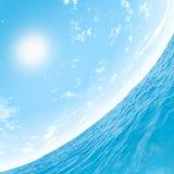 Céu e água Fotos de Stock Royalty Free
