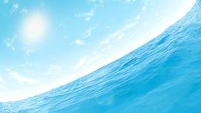 Céu e água Imagens de Stock Royalty Free