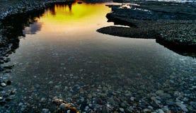 Céu e água Foto de Stock