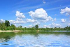 Céu e água de Aquamarine fotografia de stock
