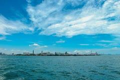 Céu e água perfeitos do oceano fotografia de stock royalty free