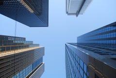 Céu e arranha-céus Imagens de Stock
