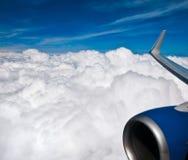 Céu e avião fotografia de stock