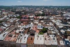 Céu e cidade no dia Foto de Stock Royalty Free