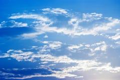 Céu e clounds prateados Fotografia de Stock