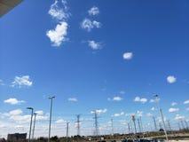 Céu e eletricidade imagem de stock royalty free