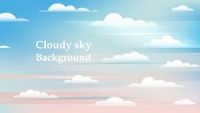 Céu e fundo das nuvens do branco, céu do dia ensolarado Fotos de Stock Royalty Free