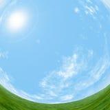 Céu e grama Imagens de Stock